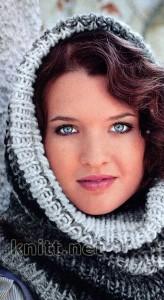 Женская шарф-шапка