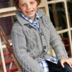 Вязаная спицами кофта TIM для мальчика