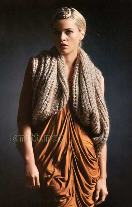 Вязанный трансформер: жилет, шарф или капюшон