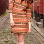 Вязаное платье ELLA с жаккардовым рисунком