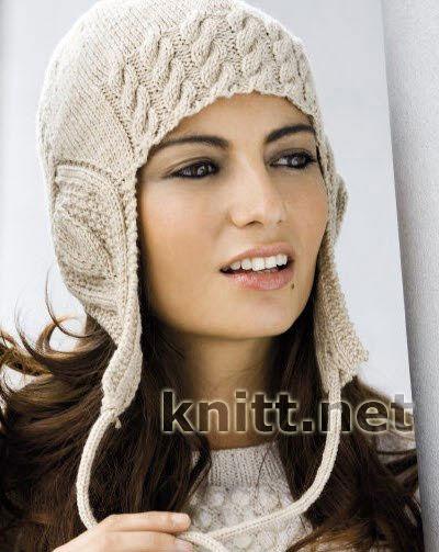 Женская шапочка-шлем