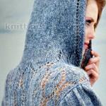 Пуловер АМАLIЕ с ажурными вставками и капюшоном
