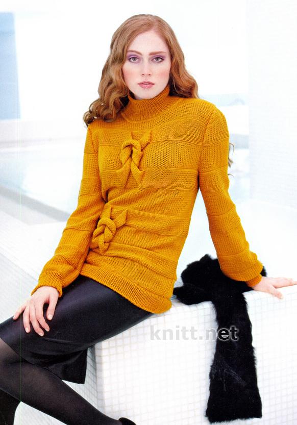 Удлиненный пуловер SUZANNE