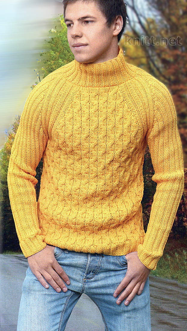 Вязаный мужской пуловер   knitt.net   Все о