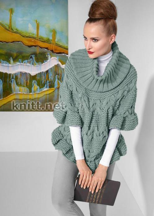 Схема вязания пуловера из толстой пряжи