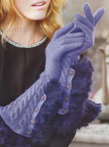 перчатки с оборками на манжетах