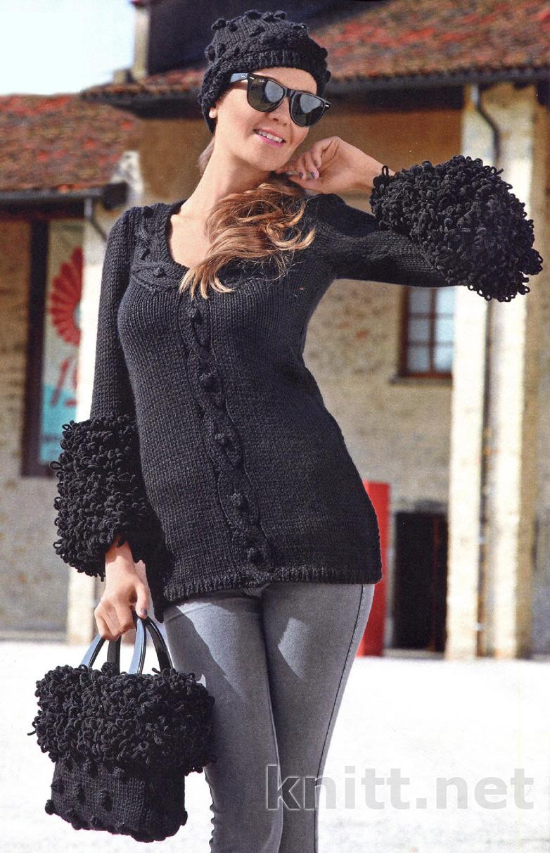 пуловер, шапочка и сумка