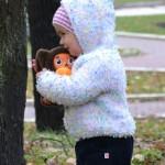 Вязаная кофта с капюшоном на ребёнка 1,5-2 года