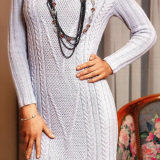 платье с рельефным узором