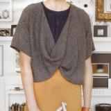 пуловер с драпировкой спереди