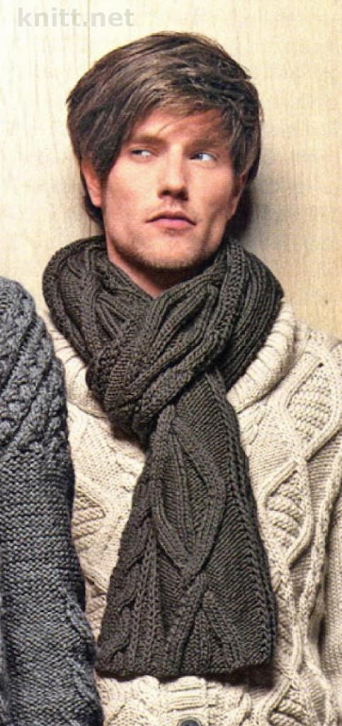 """Мужские шарфы, мужские шапки  """" Вязание, вязание спицами, вязание."""