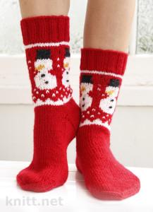 Новогодние носочки со снеговиками