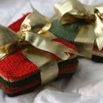 Новогодние сувениры (теневые узоры спицами)