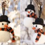 Снеговик спицами