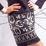 мини-юбка с норвежскими звездами