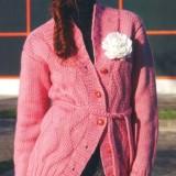 розовый жакет с поясом