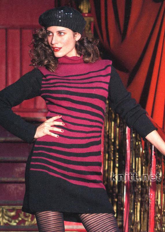 Красно-чёрное платье