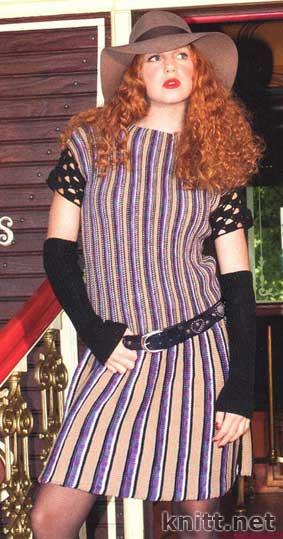 Платье и митенки