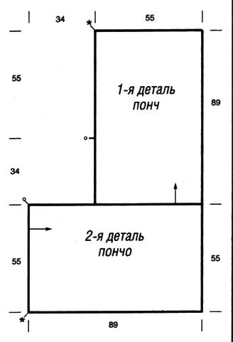 Вязание пончо из двух прямоугольников 67
