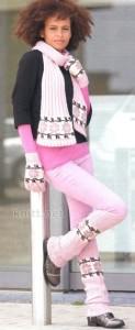 комплект: шарф, гетры, перчатки