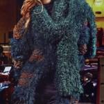 Пальто, шапочка и шарф спицами