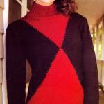 Пуловер спицами Испанская сюита