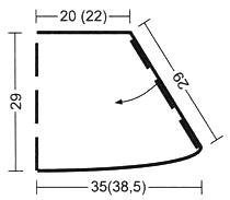 Вязаный комплект: топ и юбка с рюшами, выкройка для юбки