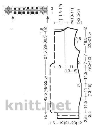 Вязаное спицами платье для девочки подростка схема и выкройка