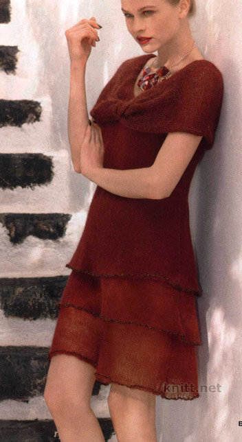 Платье каштанового цвета