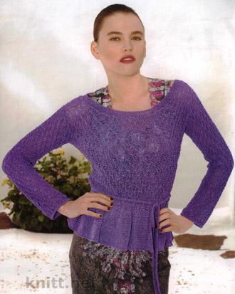 Пуловер с воланами