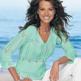 пуловер с узором зиг-заг