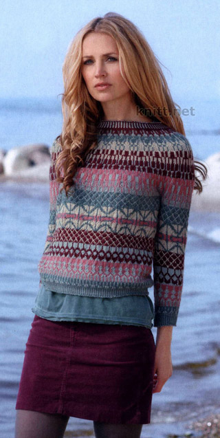"""пуловер в стиле """"бохо"""""""