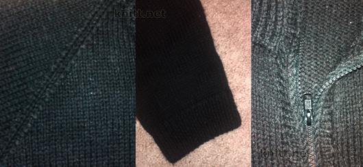 Мужская кофта на молнии связана спицами, модель  универсальна так как это классический способ вязания реглана. По желанию кофту можно декорировать логотипом.