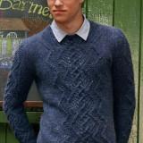 Вязаный пуловер для парня с объемным рисунком, тинейджерам обязательно понравится
