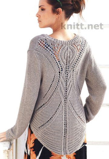 Шикарный вязаный пуловер с