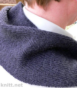 Мужской шарф с имитацией тканной фактуры
