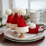 Вязаные спицами новогодние грелки для яиц, новогодний декор спицами, вязание спицами для дома, для украшения новогоднего стола