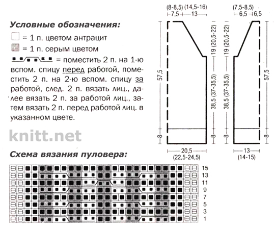 оба образца связаны спицами № 5.