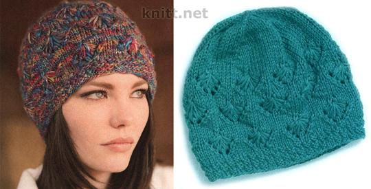 Описание вязания шапки: