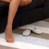 Вязаный спицами простой коврик, для дома, декор, спицами, связать ковер,