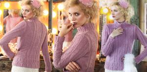 Вязаный спицами пуловер с аранами, спицами, пуловер, для женщин, вязание для женщин, выкройка, схема, вязание с описанием