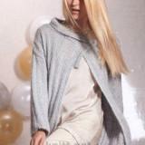 Жакет серебряного цвета с асимметричным запахом, схема вязания, выкройка, вязание жакетов, связать жакет, жакет с запахом, вязание для зимы, для весны,