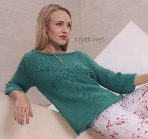 Джемпер с теневым узором, вязание спицами, для весны, для женщин, вязаные модели, вязаный джемпер, связать джемпер