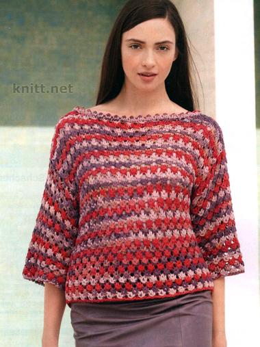 Джемпер широкого кроя из толстой пряжи спицами, вязание для женщин, выкройка, джемпер, толстыми нитками,рельефный узор