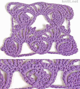 Мотив бутон может использоваться для вязания ажурных, легких изделий крючком.