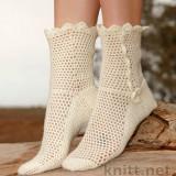 Ажурные носки крючком