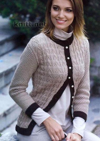Вязание спицами (кофта женская