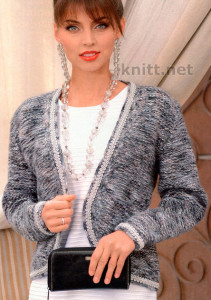 Жакет в стиле Chanel с декоративной каймой