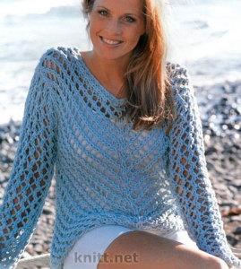 Сетчатый пуловер (с большими дырками)
