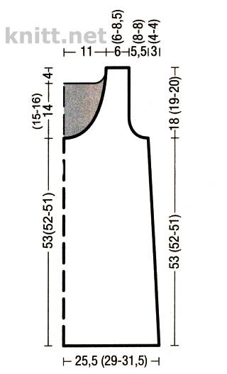 Удлиненный топ спицами с прозрачными полосками